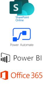 Office 365 and Power Platform; Microsoft Power Automate, Sharepoint Online Power BI